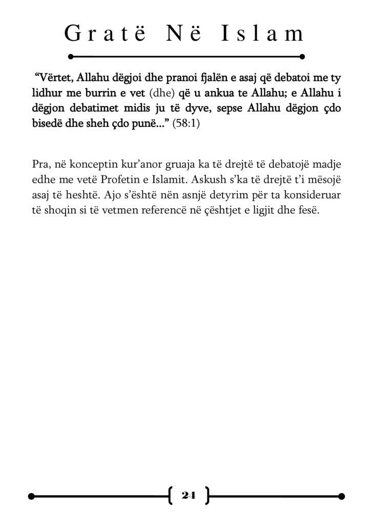 Gratë Në Islam       GRUAJA – E PAPASTËR     DHE E PËRLYER ?   L    igjet   dhe   rregullat   çifute   lidhur   me   gruan...