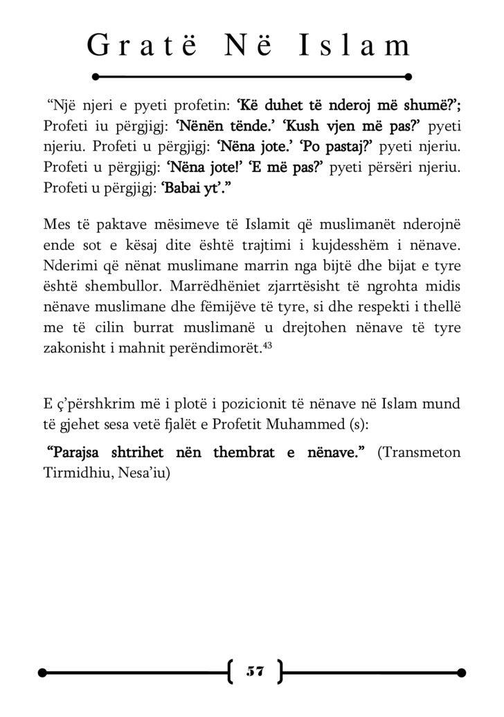 Gratë Në Islam                TRASHËGIMIA E              FEMRËS ?      Një      nga ndryshimet më të rëndësishme ndërmjet ...