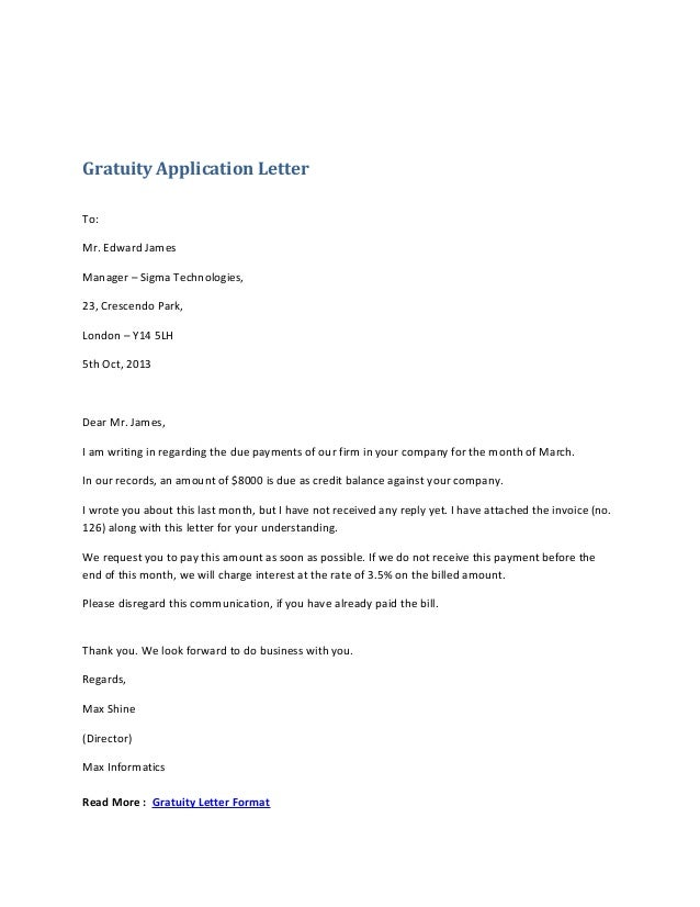Application Letter For Form 1