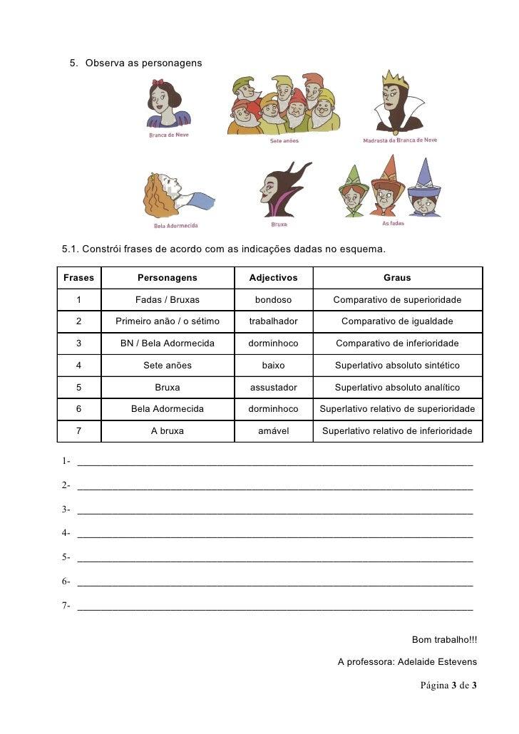 Grau dos adjectivos Slide 3