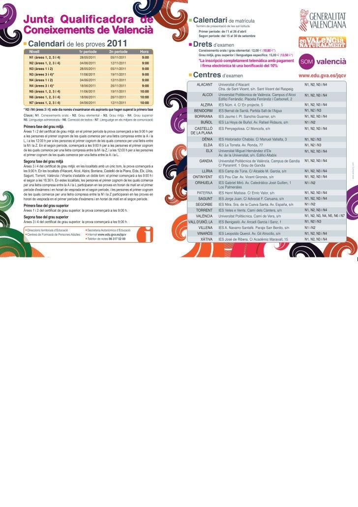 Grau mitjà   calendari de les proves - preu de l'examen - jqcv 2011