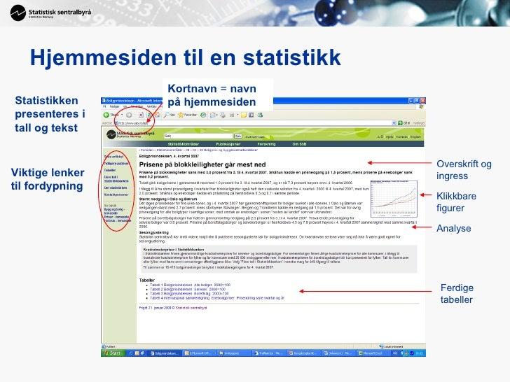 Grav etter gull i Statistisk Sentralbyrås (SSB) sine nettsider Slide 3