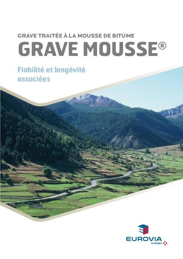 Grave traitée à la mousse de bitume  GRAVE MOUSSE Fiabilité et longévité associées  ®