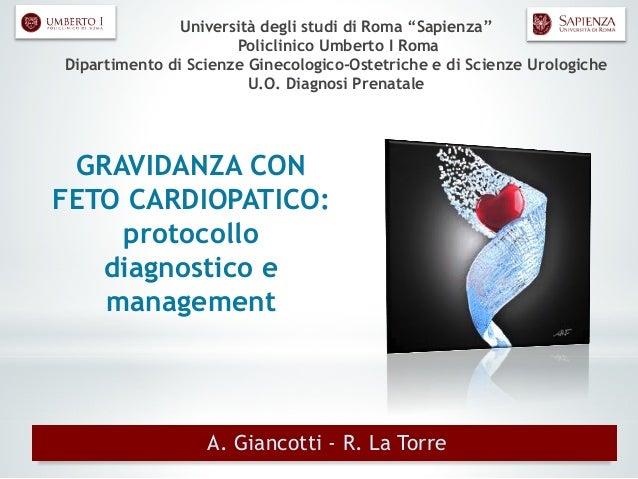 """Università degli studi di Roma """"Sapienza"""" Policlinico Umberto I Roma Dipartimento di Scienze Ginecologico-Ostetriche e di ..."""