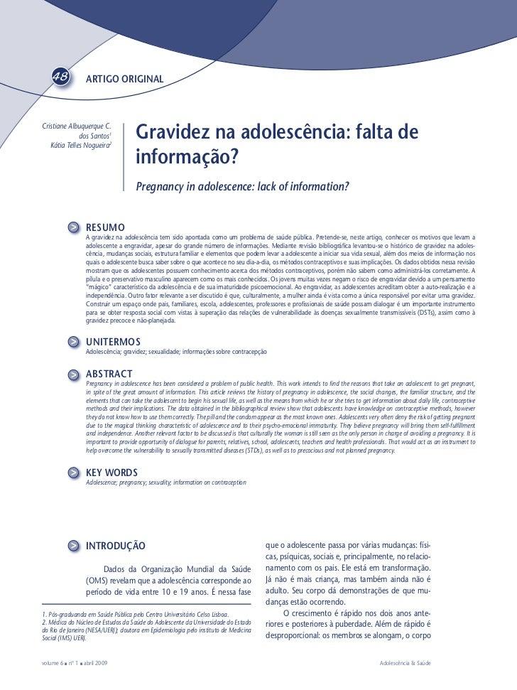 48             ARTIGO ORIGINALCristiane Albuquerque C.              dos Santos1   Kátia Telles Nogueira2                  ...