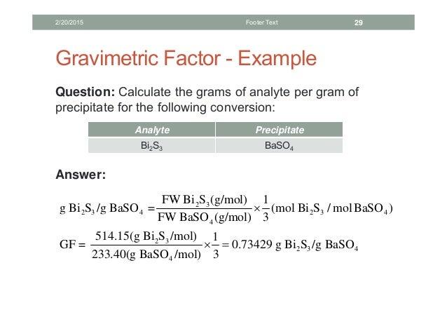 7: Gravimetric Analysis (Experiment)