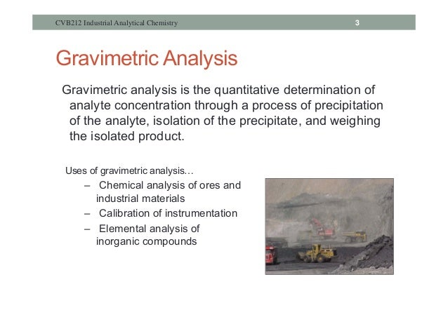 what is gravimetric analysis in chemistry
