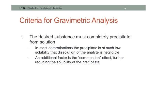 gravimetric analysis experiment lab report