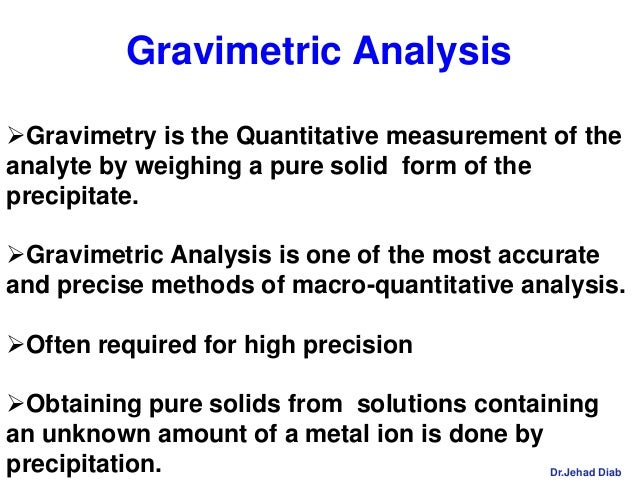 quantitative determination of sulfate by gravimetric √ gravimetric determination of sulfate content | chemical monitoring and management - iitutor  the validity of the analysis depends on the assumptions that the precipitation is quantitative .