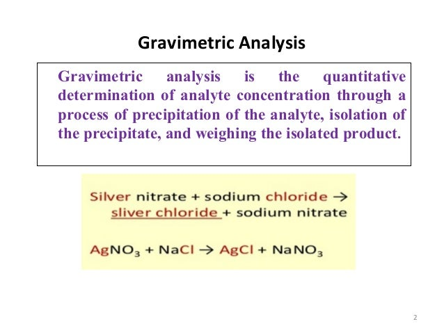 gravimetric analysis the determination of phosphorus Determining the amount of sulfate in lawn fertiliser using gravimetric analysis tutorial for chemistry students.