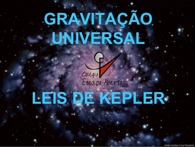 GRAVITAÇÃO UNIVERSAL LEIS DE KEPLER