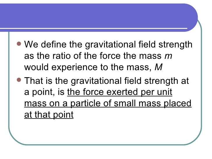gravitational field definition physics