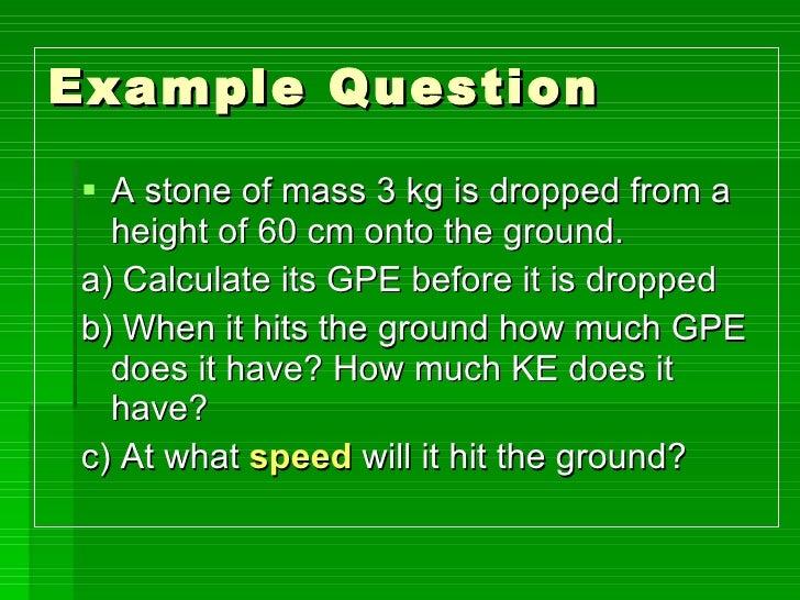 GPE and Kinetic Energy