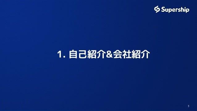 1. 自己紹介&会社紹介  3