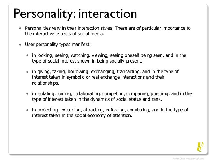 Social Media Personality Types