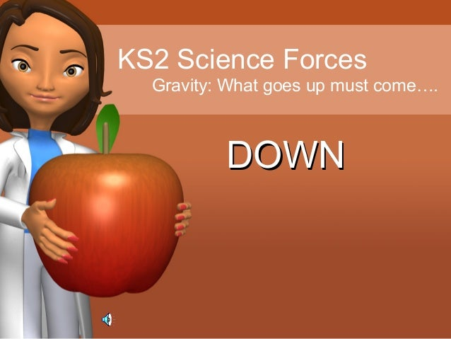 KS2 Science Forces Gravity: What goes up must come…. DOWNDOWN