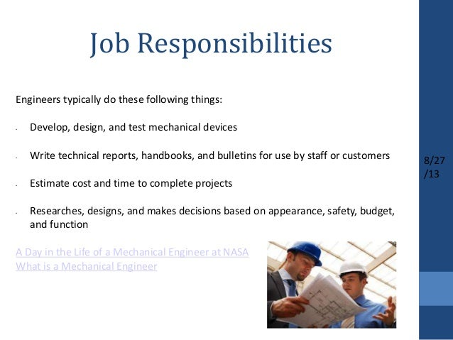 ... 5. 8/27 /13 Job Responsibilities Engineers ...