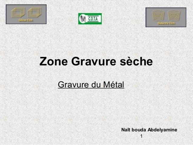 1 Gravure du Métal Zone Gravure sèche Naît bouda Abdelyamine