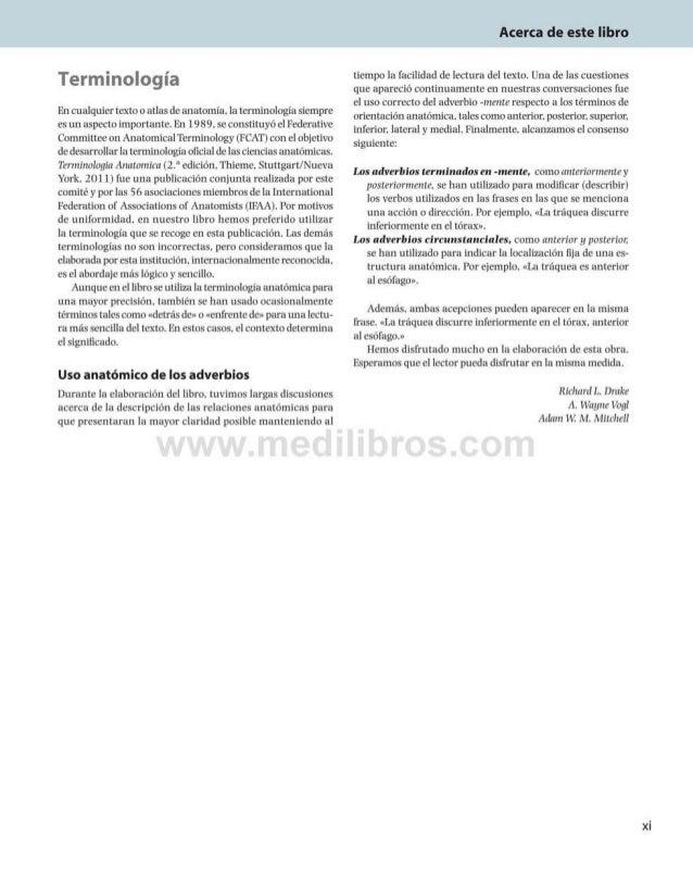 Acerca de este libro Terminología Encualquiertexto o atlas de anatomía, la terminología siempre esun aspecto importante. E...