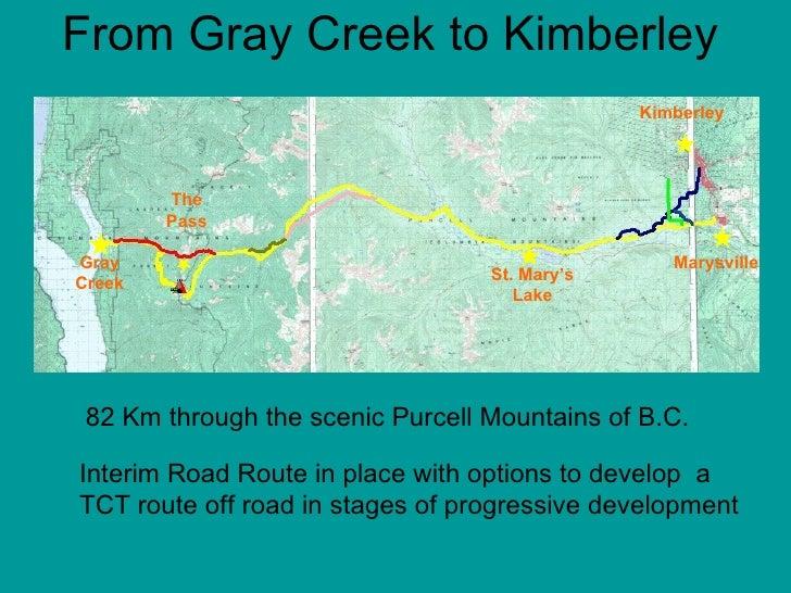Gray Creek to Kimberley Trans Canada Trail PhotoAlbum Presentation