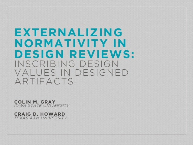 EXTERNALIZING NORMATIVITY IN 