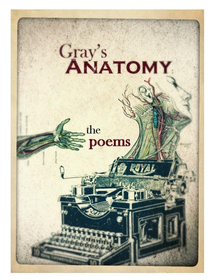 Gray\'s Anatomy: The Poems