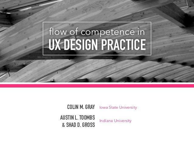 flow of competence in  UX DESIGN PRACTICE COLIN M. GRAY AUSTIN L. TOOMBS & SHAD D. GROSS Iowa State University Indiana Uni...