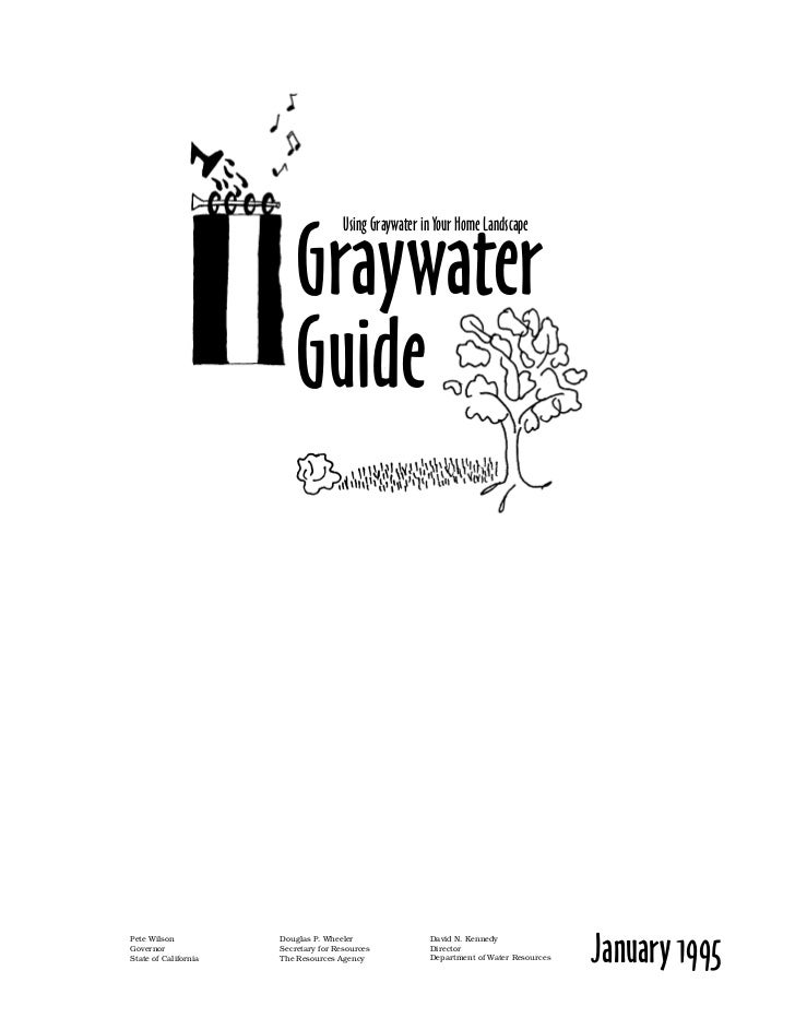 CA: Graywater Guide: Using Graywater in Your Home Landscape
