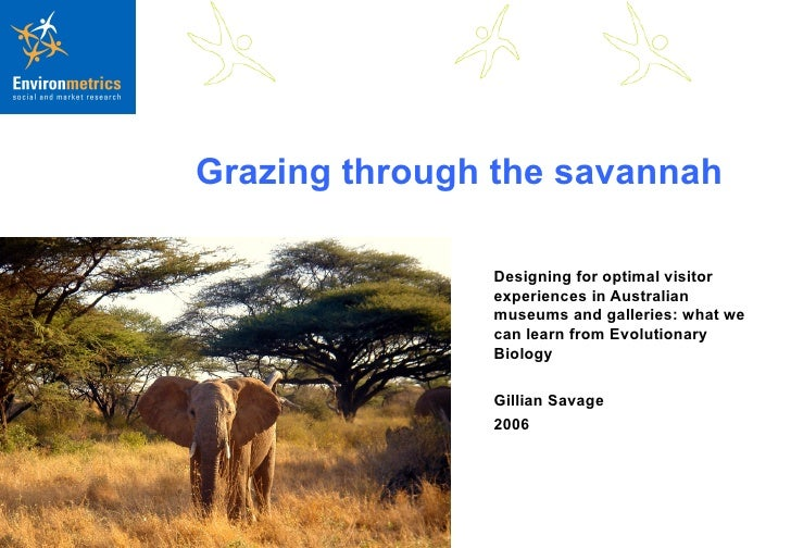 Grazing through the savannah Designing for optimal visitor experiences in Australian museums and galleries: what we can le...