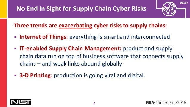 Integrating Cybersecurity Into Supply Chain Risk Management