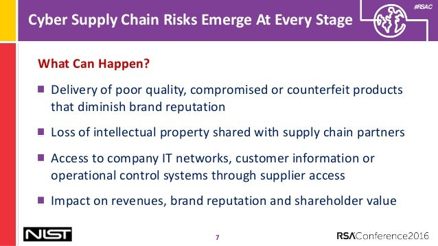 cyber security in the supply chain One area under intense scrutiny is supply-chain security, and for a good reason  many if not all of last year's successful data breaches began.
