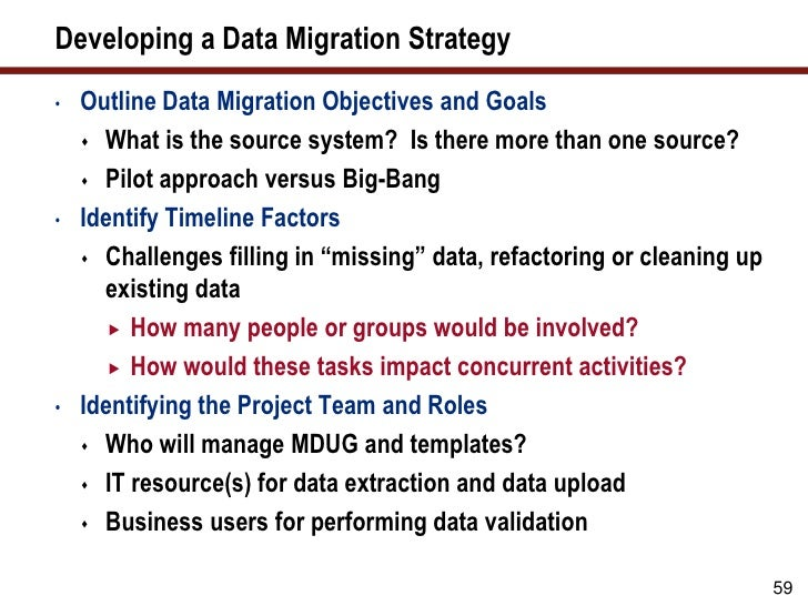 data migration strategy template - winning strategies for converting and migrating master