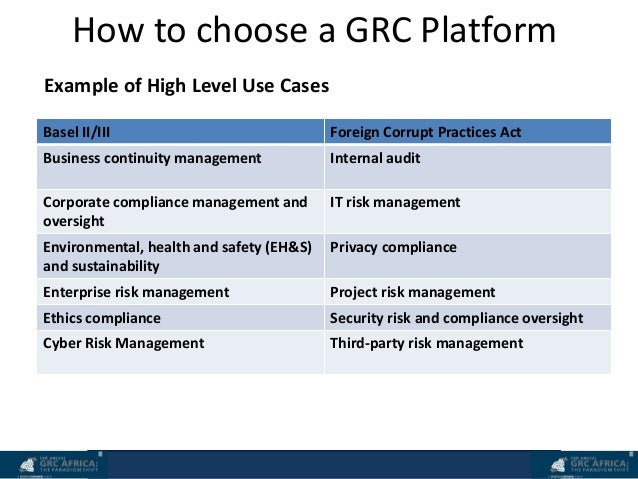 grc africa the paradigm shift  technology and grc