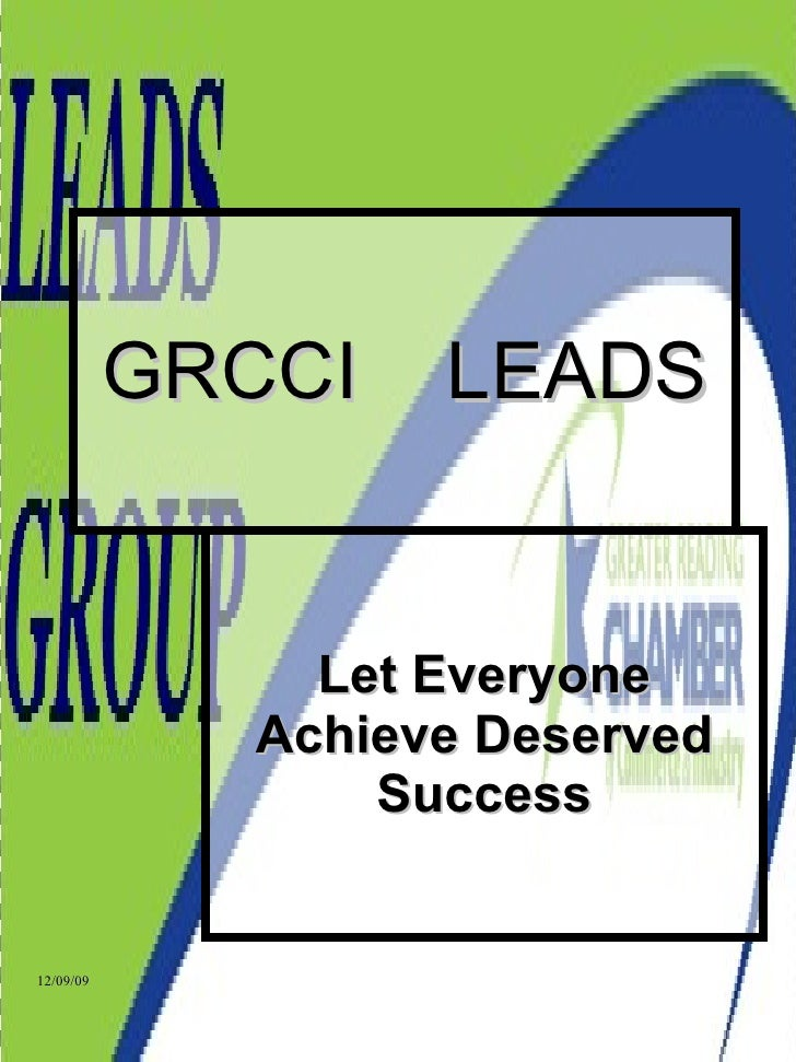 GRCCI  LEADS Let Everyone Achieve Deserved Success
