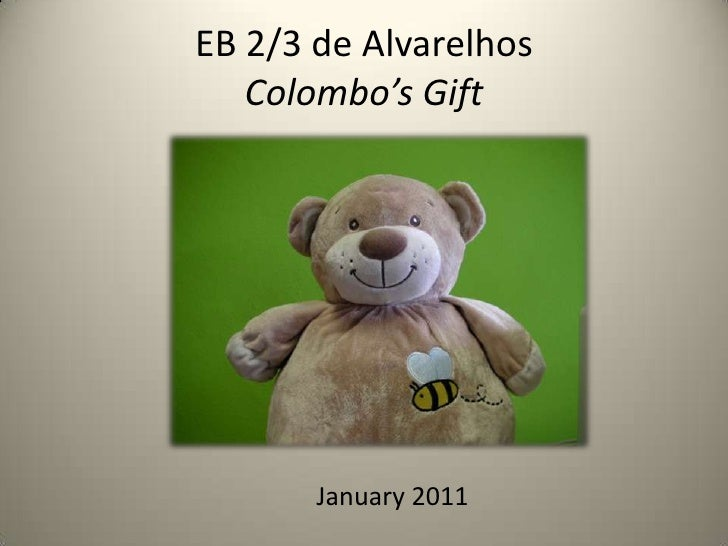 EB 2/3 de AlvarelhosColombo'sGift<br />January2011<br />