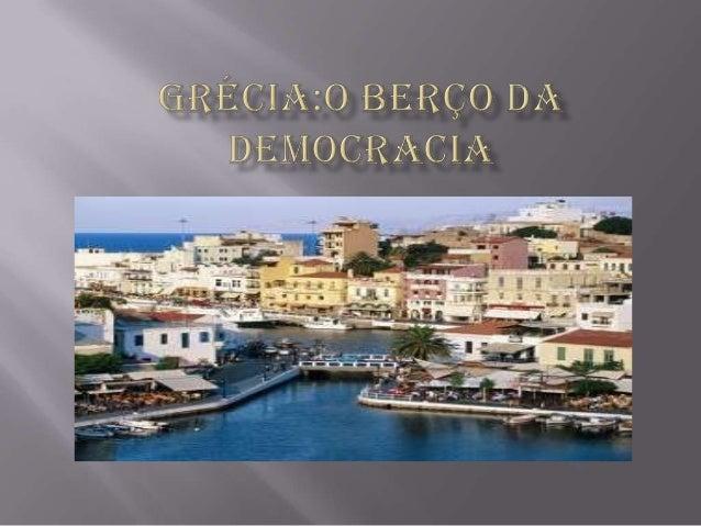   Por volta dos séculos VII a.C e V a.C. povos gregos migraram de vários pontos do Mar Mediterrâneo, devido aos conflitos...
