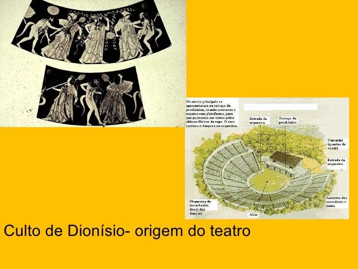 <ul><li>Culto de Dionísio- origem do teatro </li></ul>