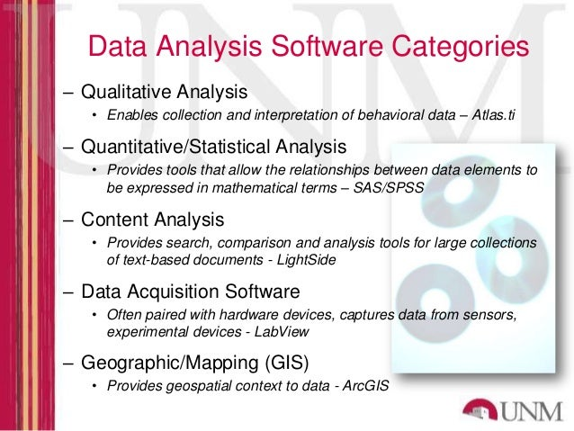 data analysis softwares Learn more about ncss statistical analysis and graphics software click here to begin a free trial, watch a demo video, or view the info-graphics.