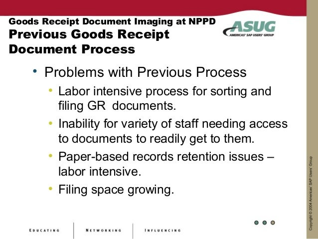 Goods Receipt Document Imaging – Receipt Document