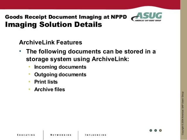 Goods Receipt Document Imaging
