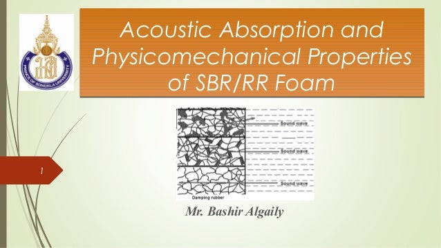 Acoustic Absorption and Physicomechanical Properties of SBR/RR Foam Acoustic Absorption and Physicomechanical Properties o...