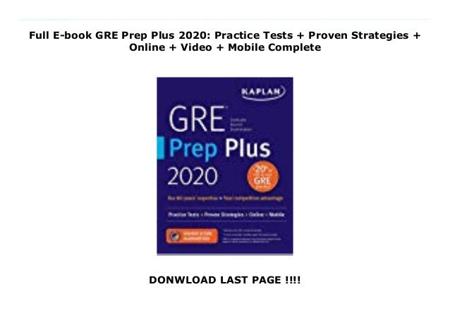 Best Gre Prep Book 2020.Full E Book Gre Prep Plus 2020 Practice Tests Proven