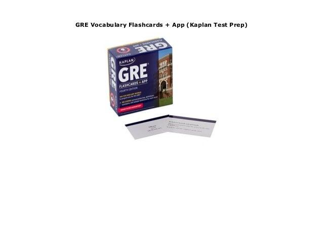 App GRE Vocabulary Flashcards