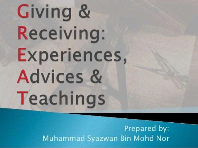 Prepared by:Muhammad Syazwan Bin Mohd Nor