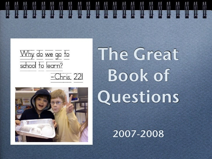 The Great  Book of Questions  2007-2008