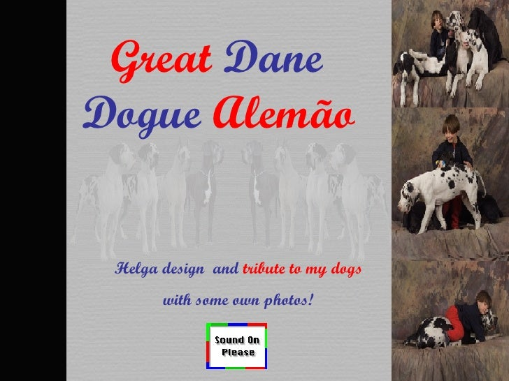 Great  Dane  Dogue  Alemão   Helga design  and  tribute to my dogs with some own photos!