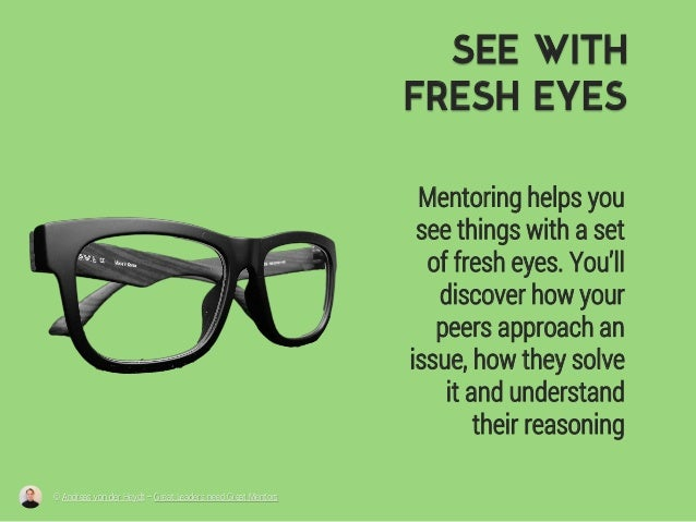 SEE WITH FRESH EYES Mentoring