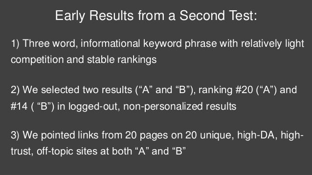 #21 #22 #23 #24 #25 #26 At 10:50am, the test URL ranked #26 in logged-out, non- personalized, non-geo-biased, Google US re...