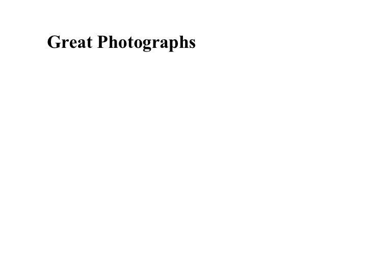 Great Photographs