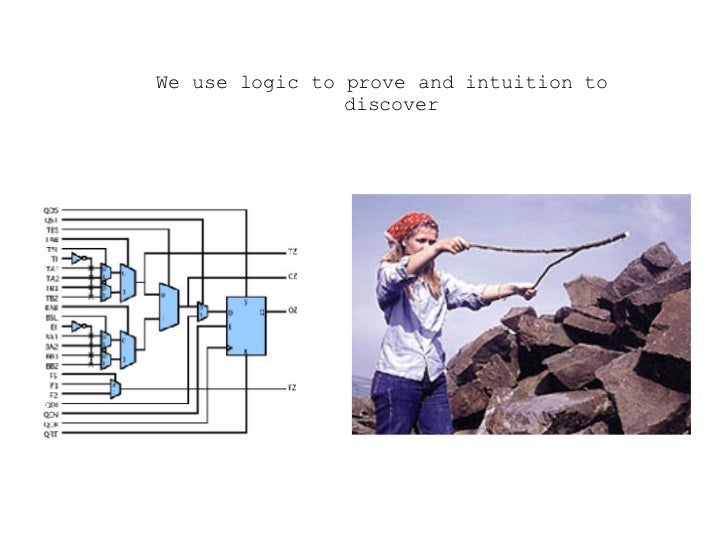 <ul><ul><ul><li>We use logic to prove and intuition to discover </li></ul></ul></ul>